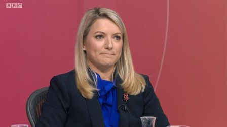 Kirstene Hair on Question Time. Photograph: BBC.