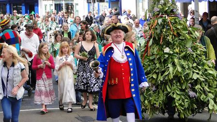 Ilfracombe's May Day celebrations return to the streets on Monday, May 6, with Town Crier Roy Goodwi