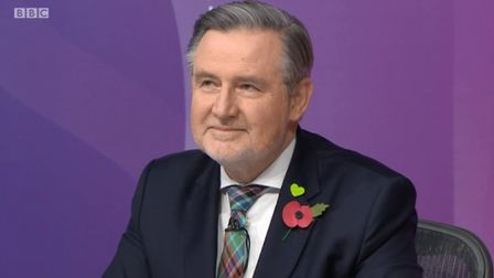 Barry Gardiner on Question Time. Photograph: BBC.