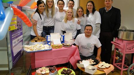 Staff at Halifax in Barnstaple brought out the cakes and candyfloss to raise money for the North Dev