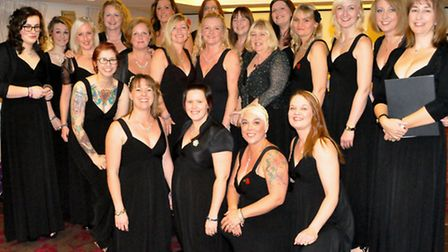 Chivenor's Military Wives Choir. Pic by Emma Hanlon Penny