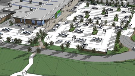 An artist's impression of the Asda store, part of the proposed Anchorwood Bank development in Barnst