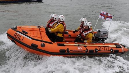 The Ilfracombe RNLI inshore lifeboat