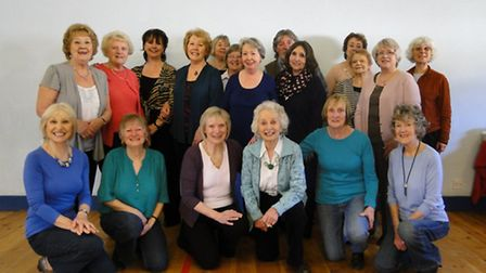 Sandra Johns (front, third from left) celebrated her last lesson with the Braunton line dancing grou