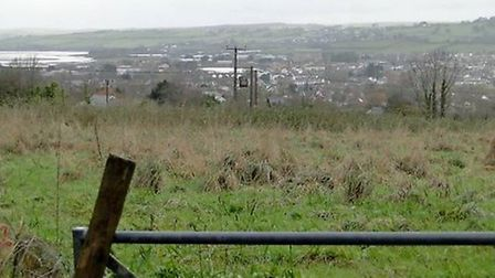 The Mount Sandford Green site on the outskirts of Barnstaple.