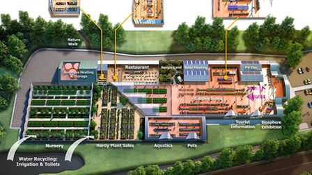 A plan of the proposed new St John's Garden Centre site at Roundswell.