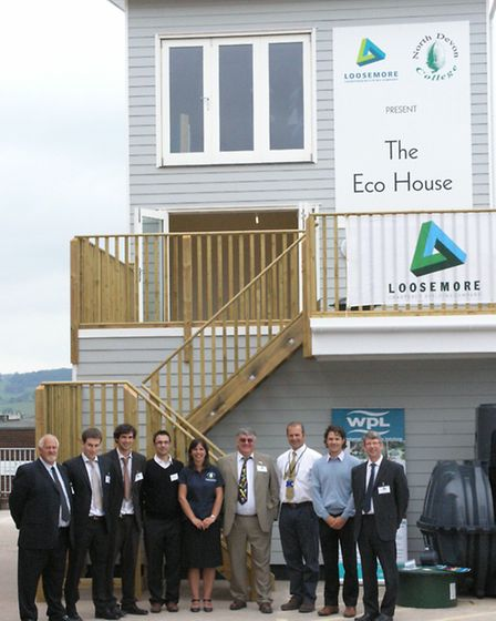 The launch of the 'eco house' by Loosemore at the Petroc Sticklepath campus in June 2009.