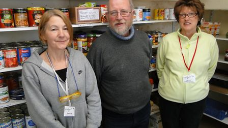 Expanding service: Volunteers (from left) Maria Cook, Duncan Withall and Gill Willett at the newly-n