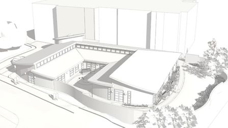 An artist's impression for the proposed new Chemotherapy Unit at North Devon District Hospital. Supp