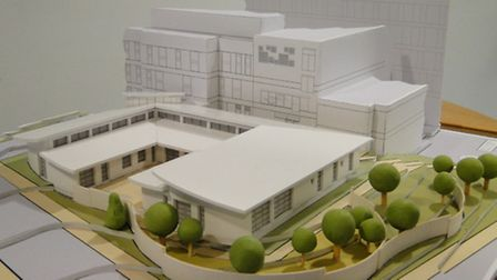 The 3D model of the proposed new Chemotherapy Unit can be seen in the foyer at North Devon District