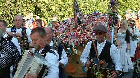 The fearsome Hobby Horse will be taking to the streets of Combe Martin for the Hunting of the Earl o
