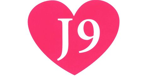 The distinctive J9 logo offers victims of domestic abuse a lifeline.