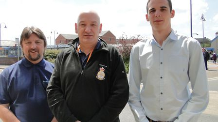 Course mentor Paul Hope served in the Royal Navy for 22 years, Julian Harman is also a navy veteran