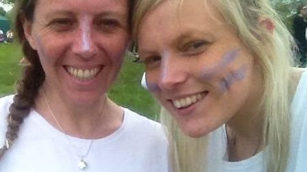 Sisters Kim and Zoe St Barbe joined nearly 1,000 runners in the UK's first ever Rainbow Run, held in