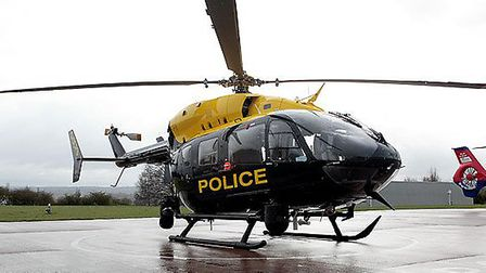 Police helicopter.