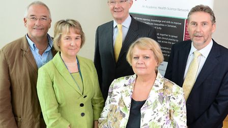 Pledging to transform patient care and public health at the launch were (from left): Devon Partnersh