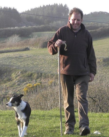 Mortehoe shepherd David Kennard, a local member of the ICAS, pictured with his dog fly.