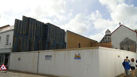 The vacant site in Joy Street where the new unit is proposed to be built.