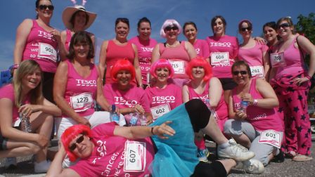 Ladies from the Barnstaple Tesco Extra store. To order this photo and see others click on the Photo