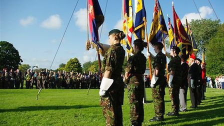 Bideford's Armed Forces Day parade and flag raising ceremony. Pic: Graham Hobbs.