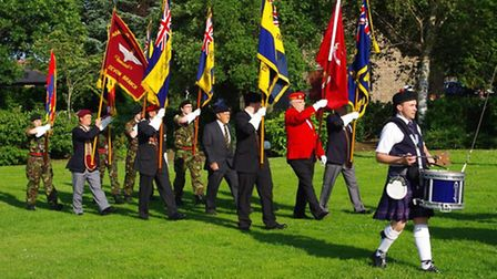 Armed forces day in Bideford.