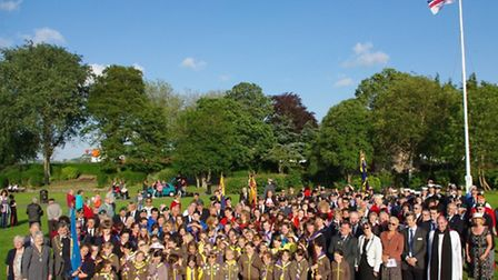 The turnout for Armed Forces Day in Bideford.