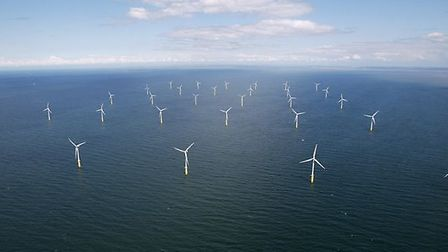 How the proposed Atlantic Array offshore wind farm might look. This image shows the North Hoyle offs