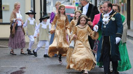 The traditional South Molton Olde English Fayre floral dance. Picture: Trevor Brayley.