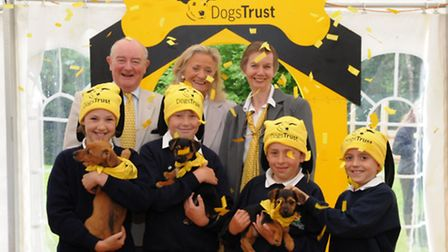 Celebrating the official reopening of the Dogs Trust Ilfracombe Rehoming Centre are Dogs Trust deput