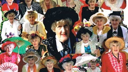The many faces of well known Barnstaple fund raiser Joan Walton, who passed away on June 9.