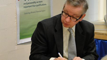 Michael Gove met with the principal and governors of the Route 39 Academy.