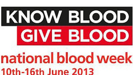 National Blood Week takes place from June 10-16.