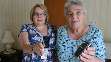 Melanie Hopkins and Brenda Rendle are fed up with having no landline.