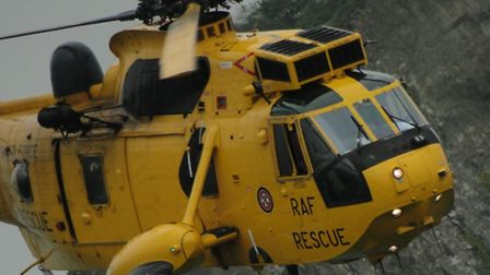 Chivenor Sea King search and rescue helicopter.