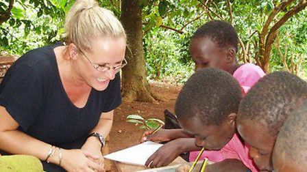 Sara Bluett spent a week teaching young Ugandans under a tree and it inspired her to help young Afri