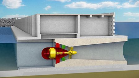 What the proposed Swansea turbine might look like.