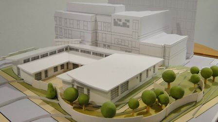 A 3D model showing how the new chemotherapy unit will look.