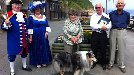 Ilfracombe Town Crier and Hele resident Roy Goodwin, his wife Bea, Ann Jones who planted the promena