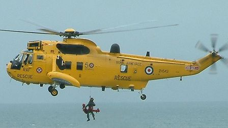 The 22 Squadron Sea King helicopter from RMB Chivenor.