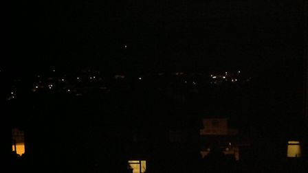 Natalie Offield took these photos of the lights from her house in Ilfracombe.