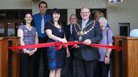 Managers Pete and Emma Bowman, Mayor and Mayoress Simon and Lorraine Inch, Deputy Mayor and Mayoress