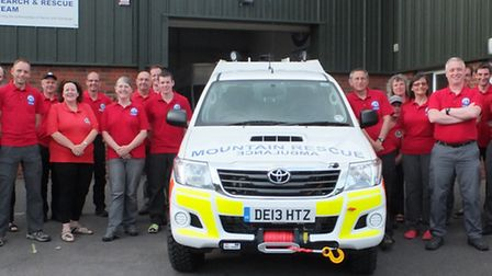 The Exmoor Search and Rescue is pictured with the new vehicle at the base in South Molton.