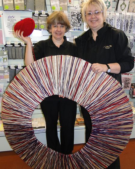 Trelawney craft centre manager Anne Lynn and general manager Caroline Howell-Williams with the begin