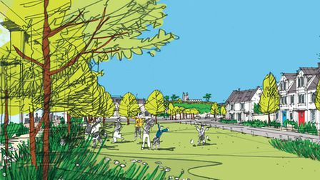 How the Chivenor Cross development might appear.