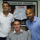 Tommy (centre) with Dave Caldwell on his left
