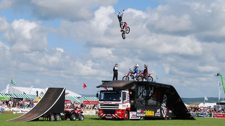 The high-flying Bolddog Lings FX team will be thrilling crowds at this year's North Devon Show. (Pic