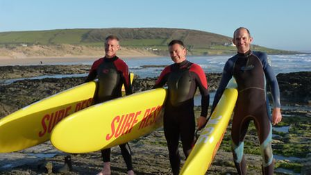 Peter Makepeace, Ian Bennett and Phil Strahan are doing a sponsored paddle from Clovelly To Croyde o