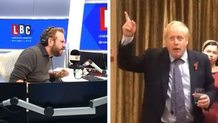 According to LBC radio host James O'Brien, a video released of Boris Johnson 'rambling' after a day