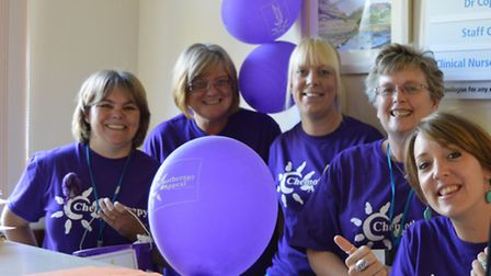 Staff at North Devon District Hospital showed their true 'colour' in aid of the Chemotherapy Appeal.