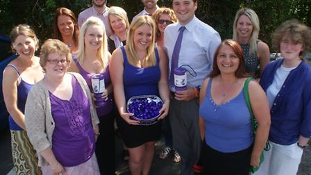 The North Devon Gazette team got their purple on in support of the Chemotherapy Appeal.